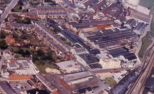 Chippenham site from the air, 1973